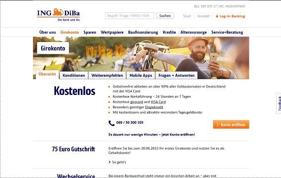 Offizielle Webseite der ING-DiBa