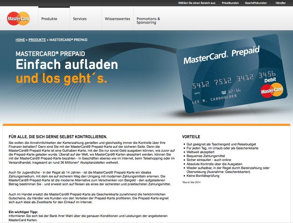 Prepaid Kreditkarte werden von verschiedenen Anbietern angeboten