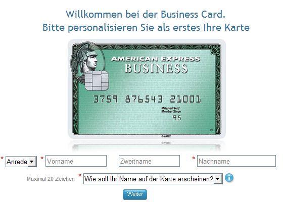 Die American Express Business beantragen: Einfach und schnell