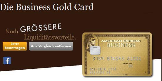 Premiumkarte: Die American Express Business Gold Card
