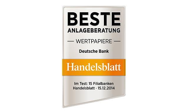 Deutsche Bank - Beste Anlageberatung