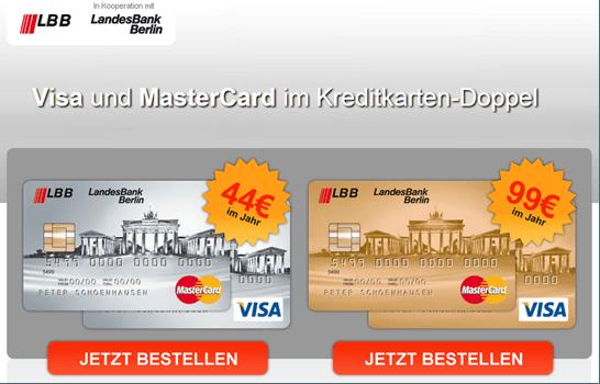 Das Kreditkartenangebot der LBB