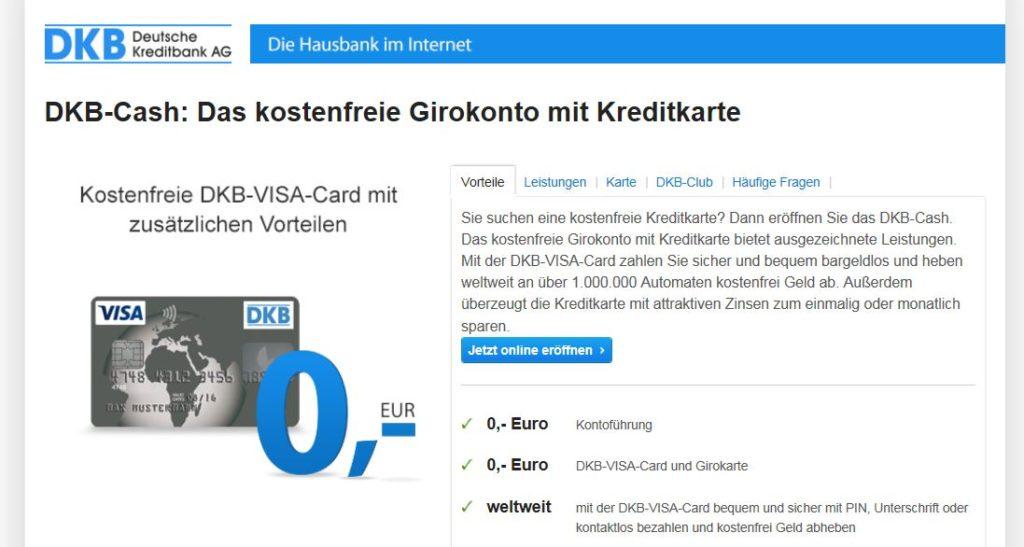 Informationen zur DKB VISA Karte