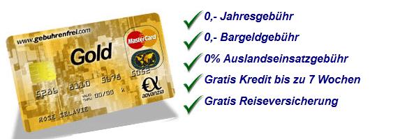 Mastercard der Advanzia Bank konditionen
