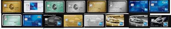 16 Kreditkarten zur Auswahl