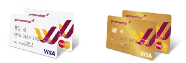 Zwei Kartenvarianten bei der Barclaycard Germanwings Kreditkarte