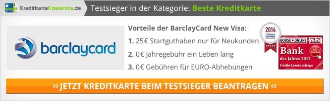 Kreditkarte ohne Jahresgebühr