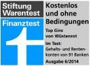 w++stenrot direct visa classic-Stiftung Warentest Top Giro-Kostenlos und ohne Bedingungen