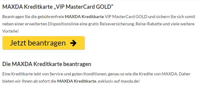 Maxda Kreditkarte