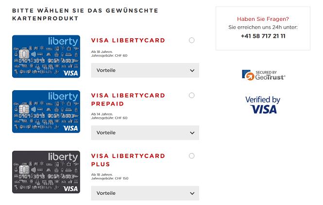 LibertyCard Kreditkarten
