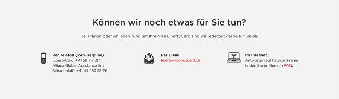 LibertyCard Kundenservice