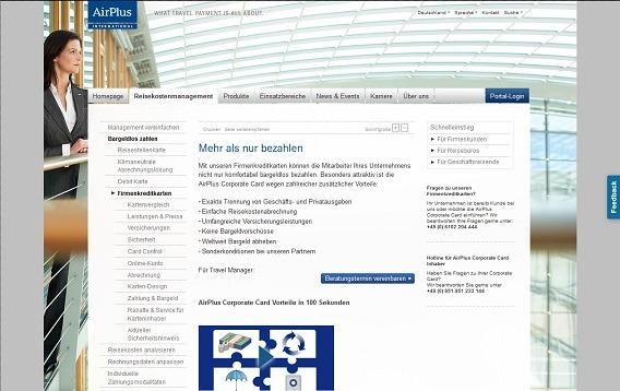 Details zur AirPlus Firmenkreditkarte