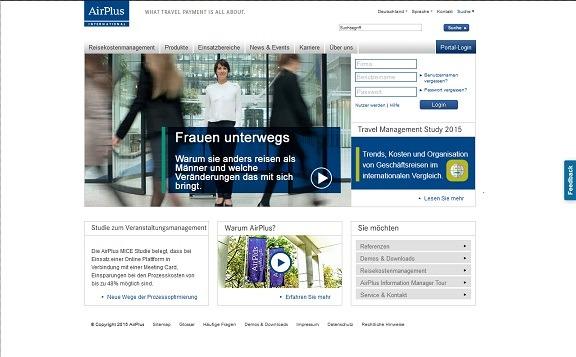 Die offizielle Webseite der AirPlus Deutschland
