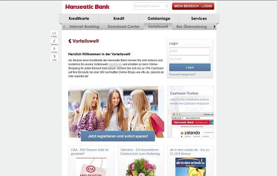 Offizielle Webseite der Hansaeatic Bank Vorteilswelt