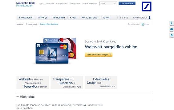 Offizielle Webseite der Deutschen Bank