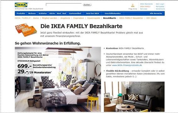 Ikea Bezahlkarte beantragen