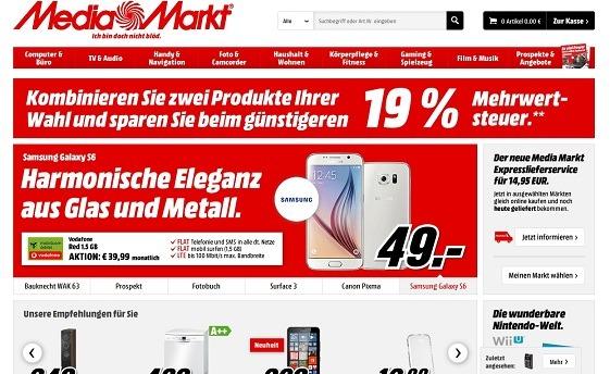 Offizielle Webseite von Media Markt