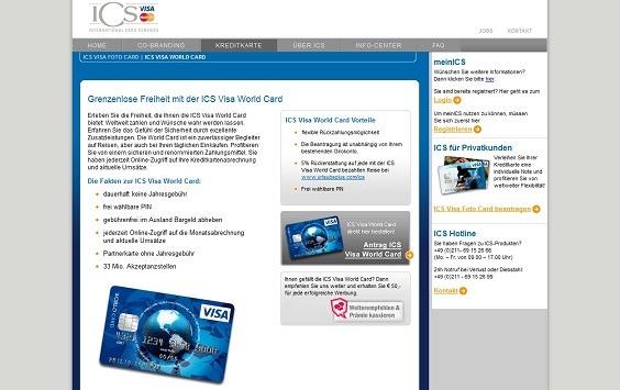 Offizielle Webseite der Barclaycard Kreditkarte