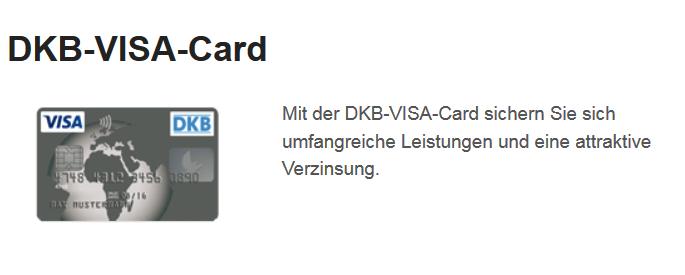 Angebot DKB VISA Card