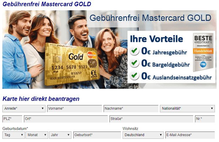 kreditkarte ohne gehaltsnachweis
