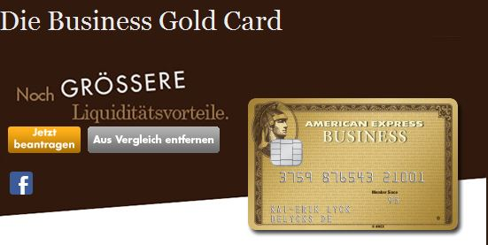 Premiumkarte: Die American Express Business Gold Card