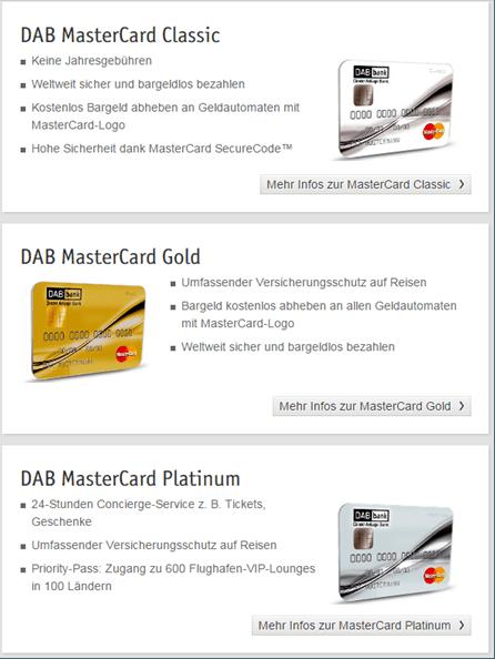 DAB Mastercard Platinum