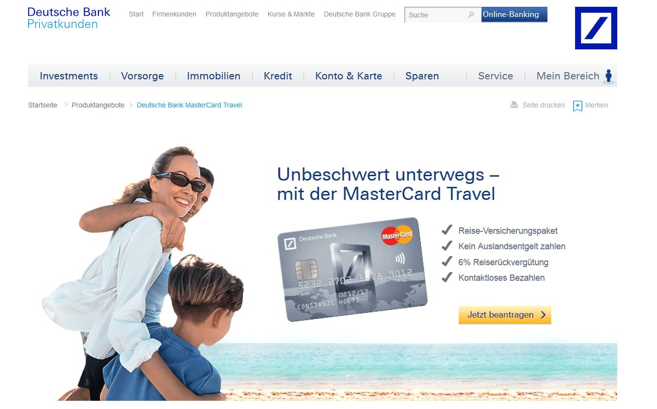 Die MasterCard Travel bringt Extras mit