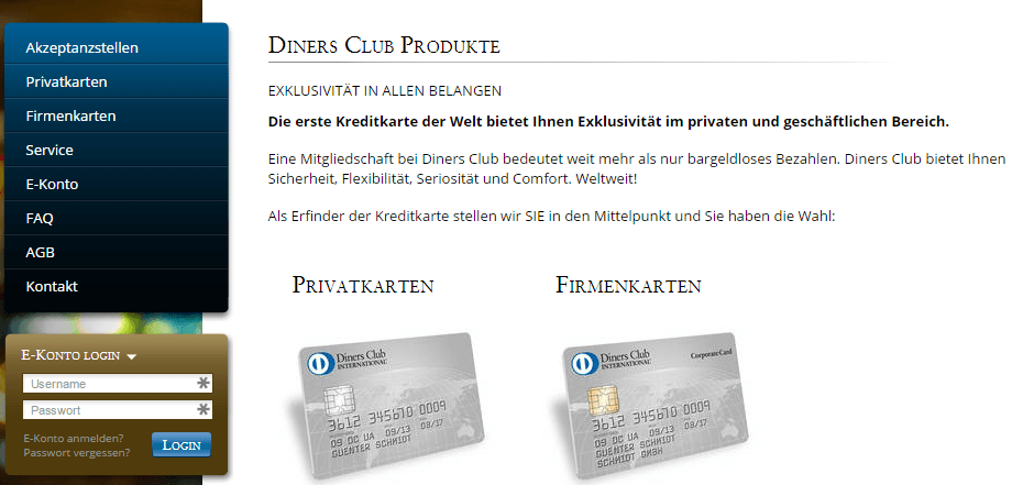 Diners Club Karte