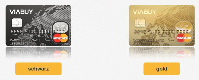 Angebot fur Prepaid Kreditkarte mit Hochprägung bei Viabuy