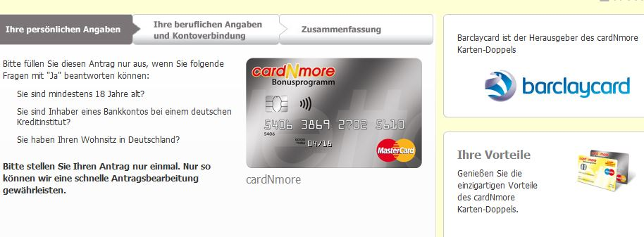 Alt-Tag: Anfrage stellen Barclaycard CardNMore