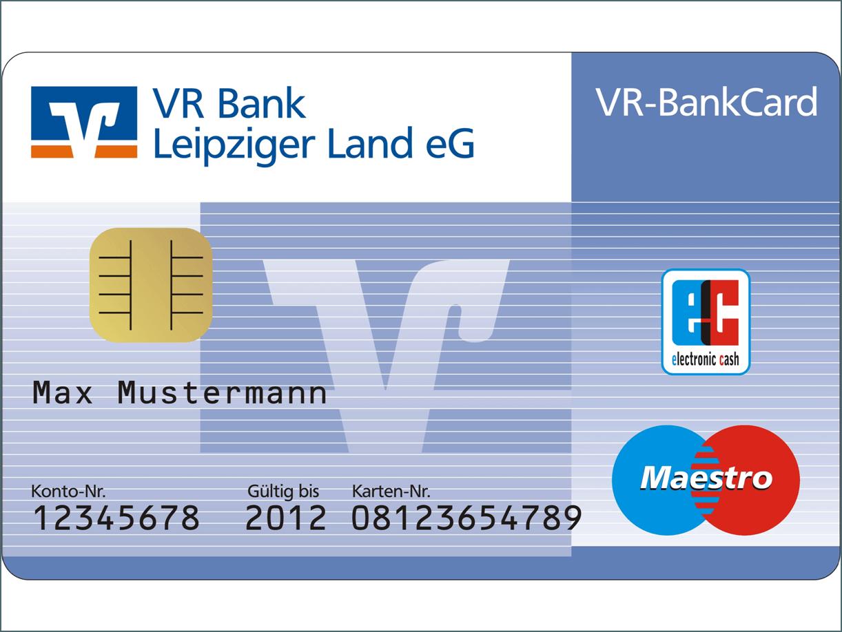 Musterkarte von der Volksbank