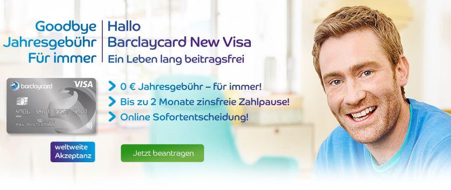 Empfehlung ohne Gebühr für die Barclaycard New Visa