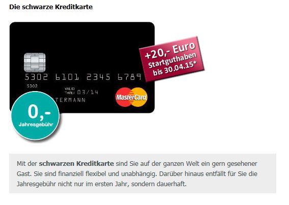 Das MasterCard Angebot der Valovis Bank