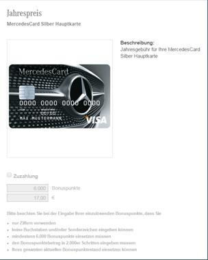 Der Jahresgebührenrechner der Mercedes Benz Bank