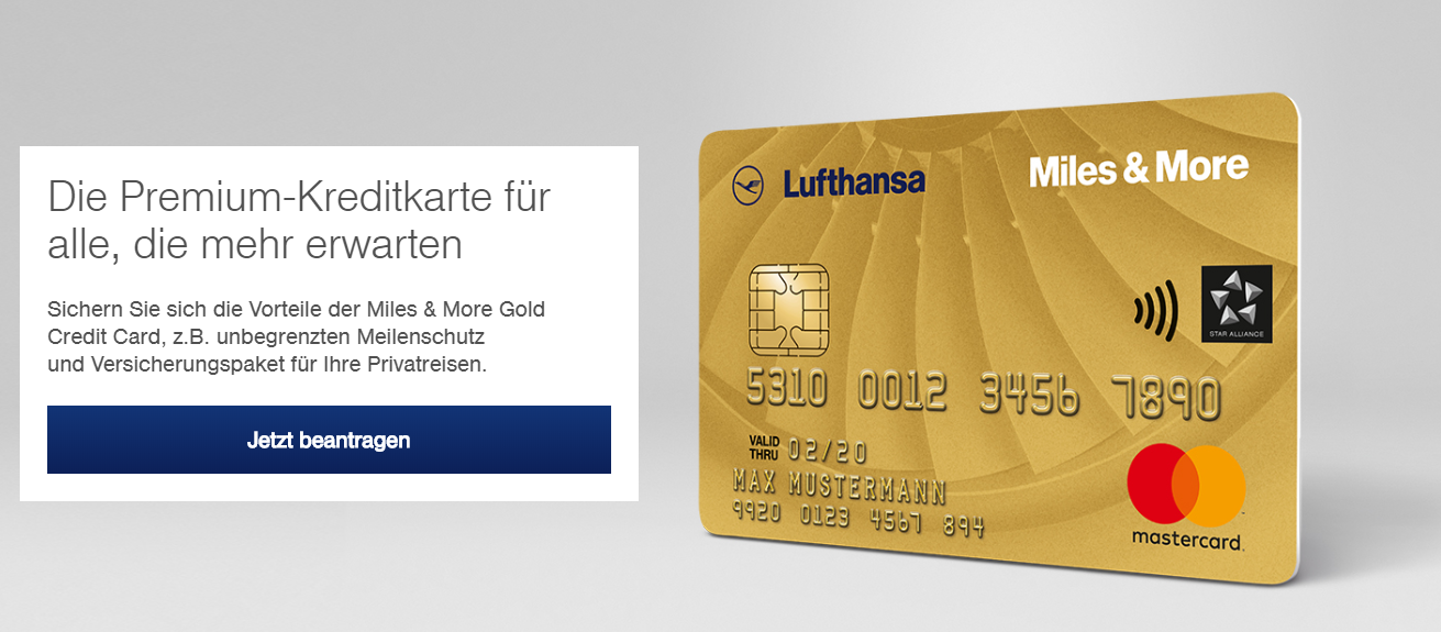 Die Premium-Kreditkarte von Miles & More