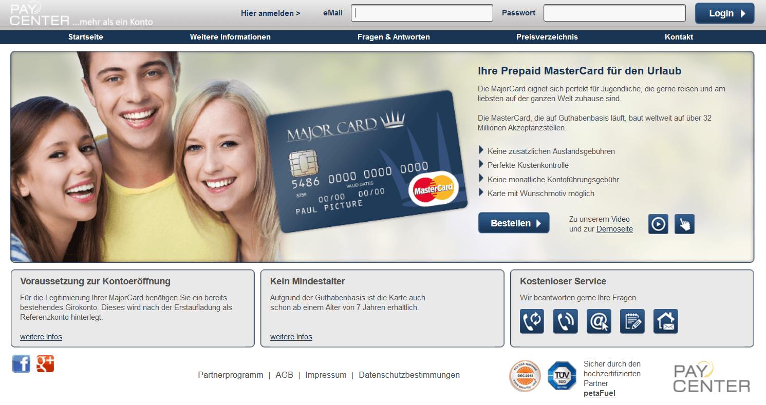 Das Angebot von Paycenter