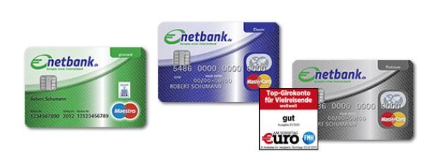 Kreditkarten im Überblick bei der netbank