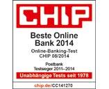 Postbank - Beste Online-Bank 2014