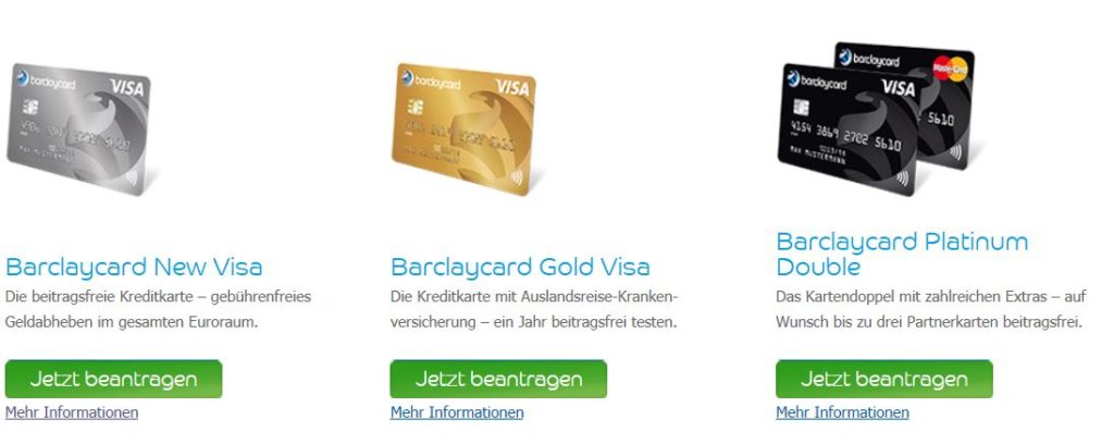 Barclaycard Premiumkarten im Vergleich ohne Jahresgebühr