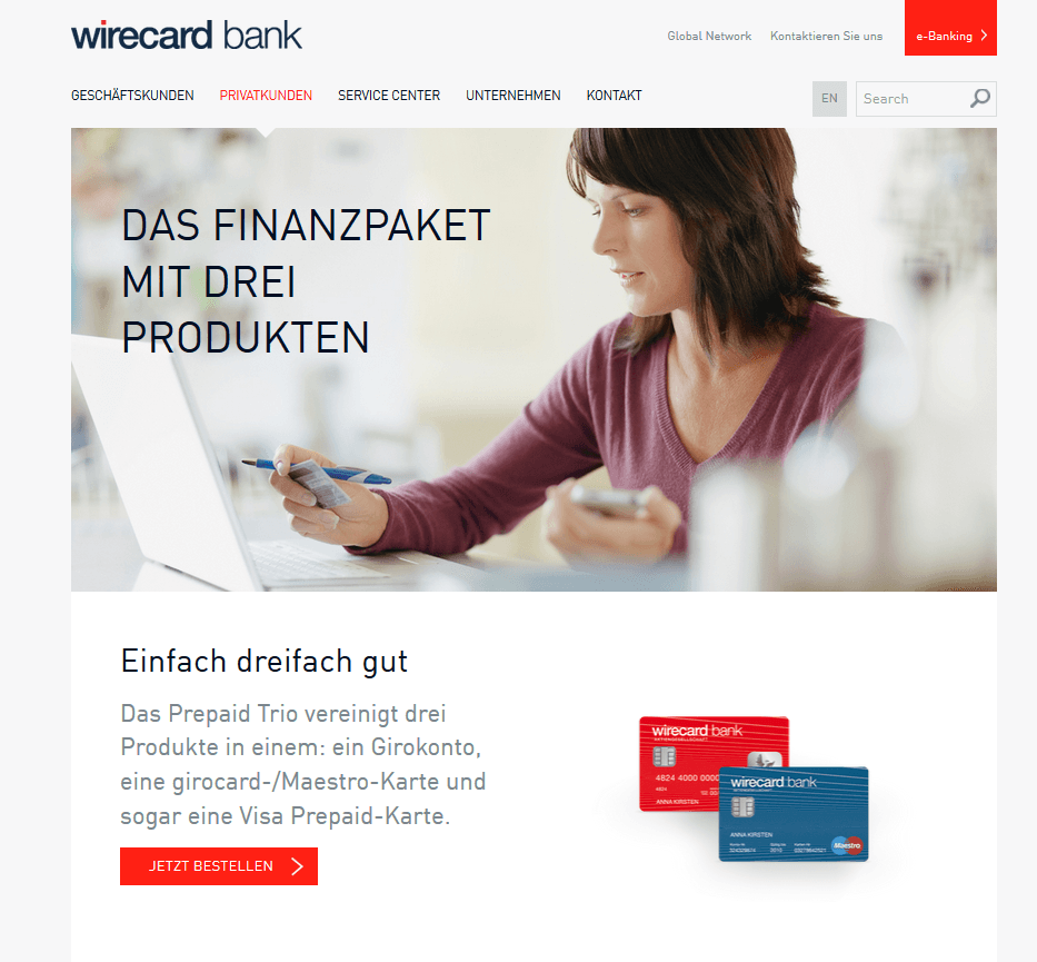 Ebanking Wirecard