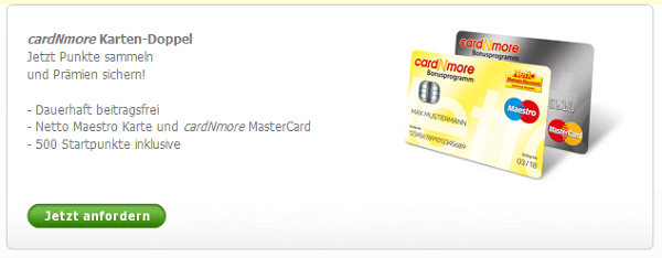 Dauerhaft kostenlose Kreditkarte