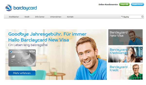 Der Webauftritt von Barclaycard