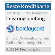 barclaycard new visa kreditkarte.org beste kreditkarte Leistungsumfang