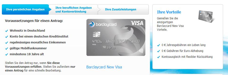 kreditkarte ohne einkommensnachweis test