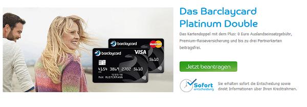 Visa und Mastercard Kreditkarten im Doppel