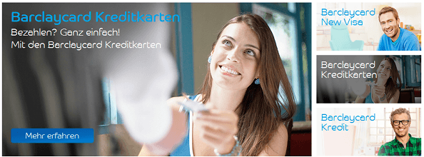 Barclaycard Kreditkarten fürs Online Shopping