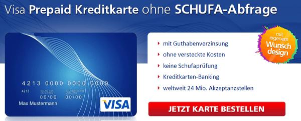 Die Visa Prepaid Kreditkarte