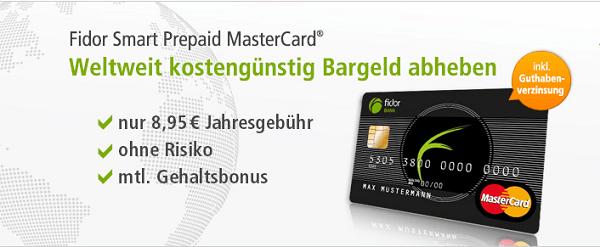 Die Fidor Smart Prepaid MasterCard