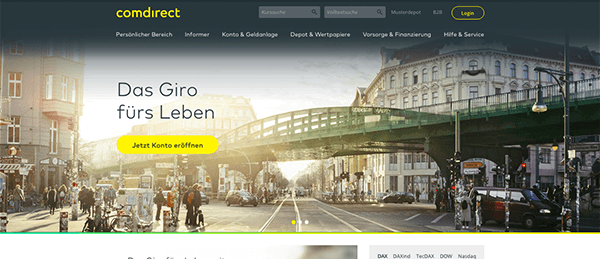 Comdirect Homepage