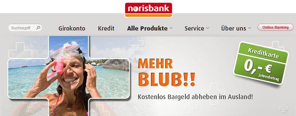 Die noris Card der norisbank